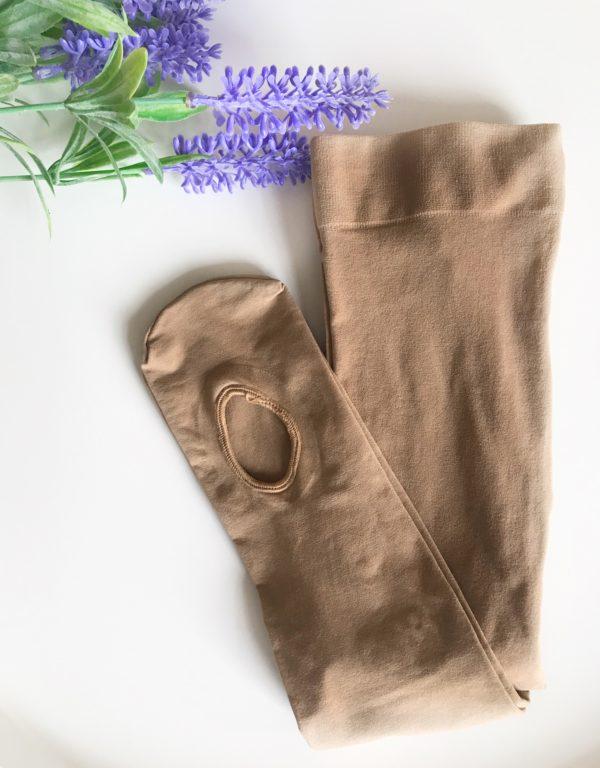 Accesorios de ballet: Medias con agujero marrones Adagio Dancewear
